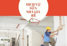 Dịch vụ sửa nhà giá rẻ tại Hà Nội