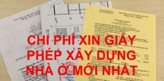 Chi phí xin giấy phép sửa chữa nhà ở