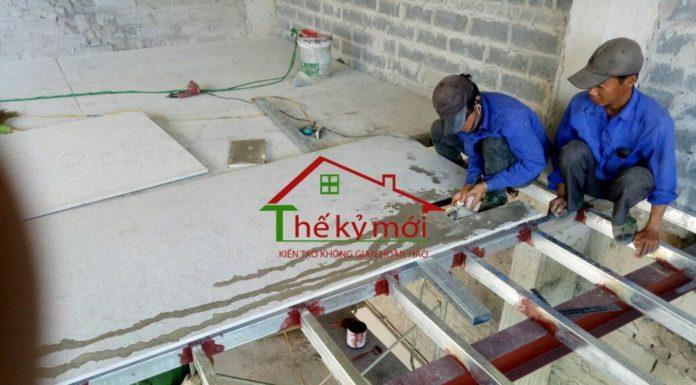 Làm thêm phòng trên sân thượng bằng vật liệu nhẹ