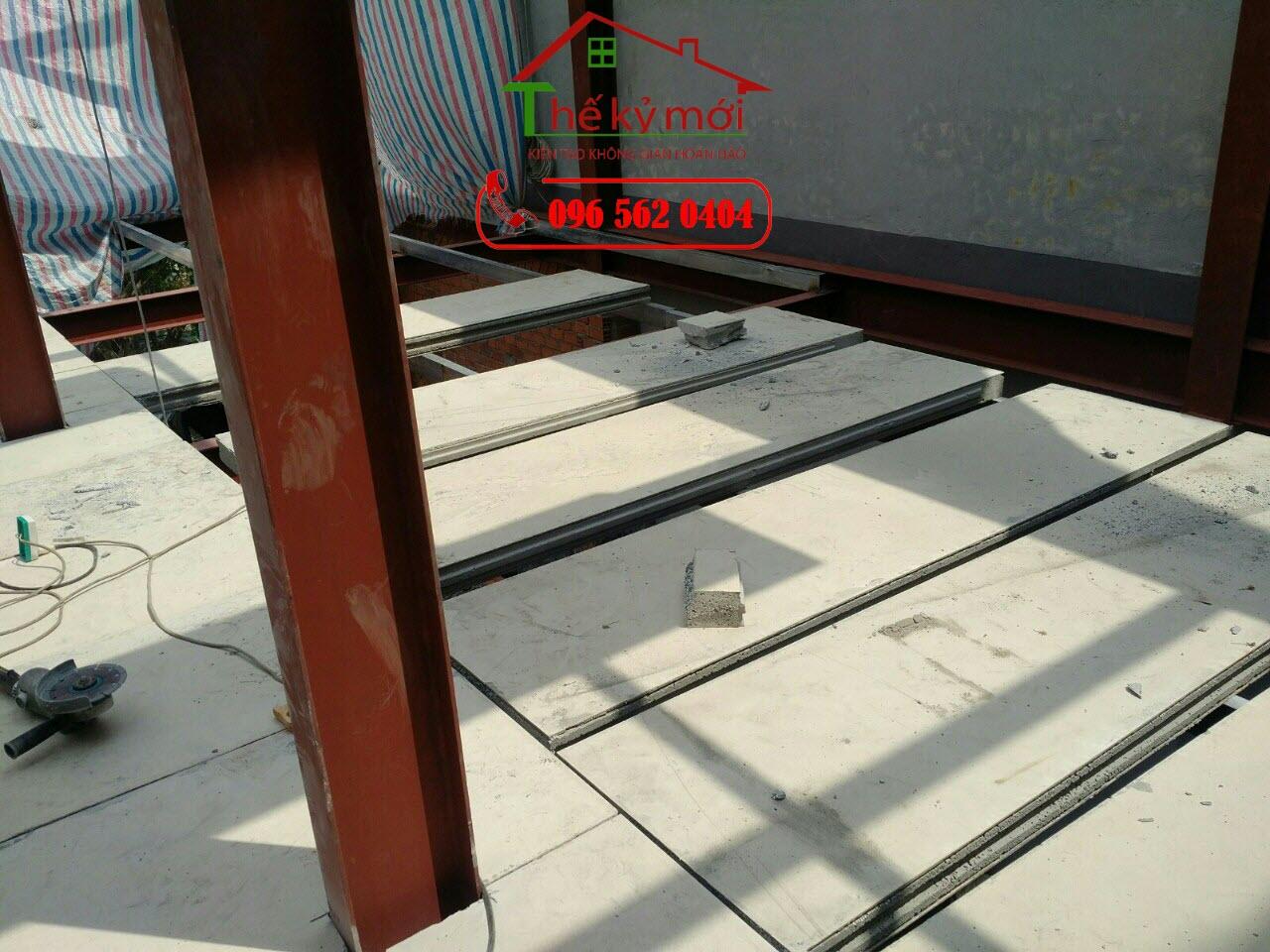 Báo giá thi công tấm sàn bê tông nhẹ Cemboard