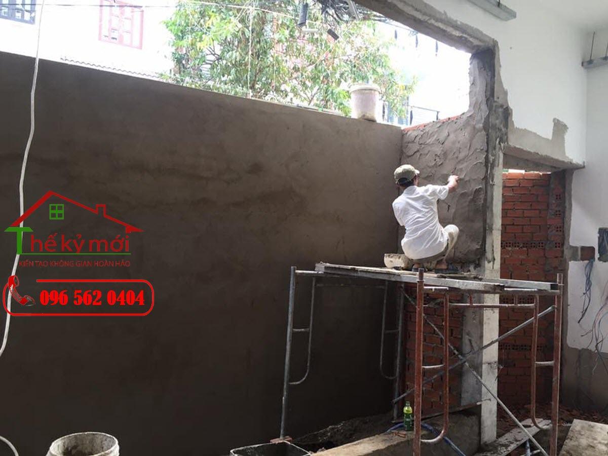 Báo giá sửa nhà Hà Nội 2021 hạng mục trát tường