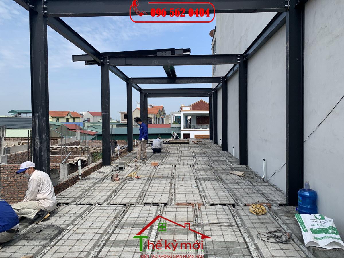 Nâng tầng nhà bằng khung thép siêu nhẹ
