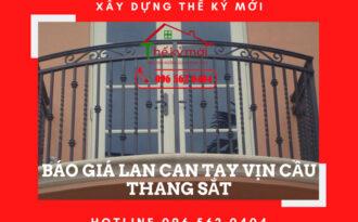 Báo giá làm lan can cầu thang tay vịn tại Hà Nội