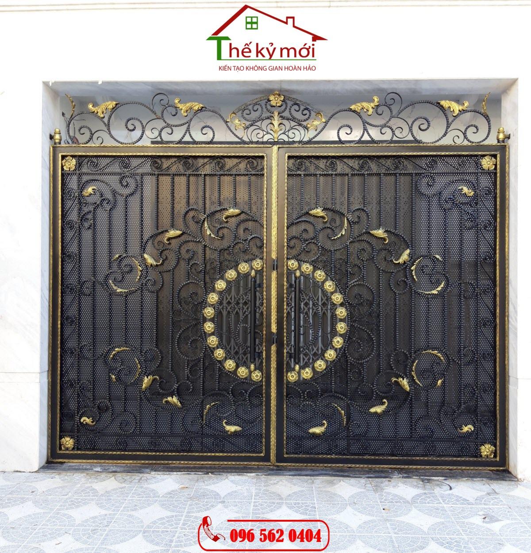 Báo giá thi công làm cửa cổng sắt xen hoa tại Hà Nội